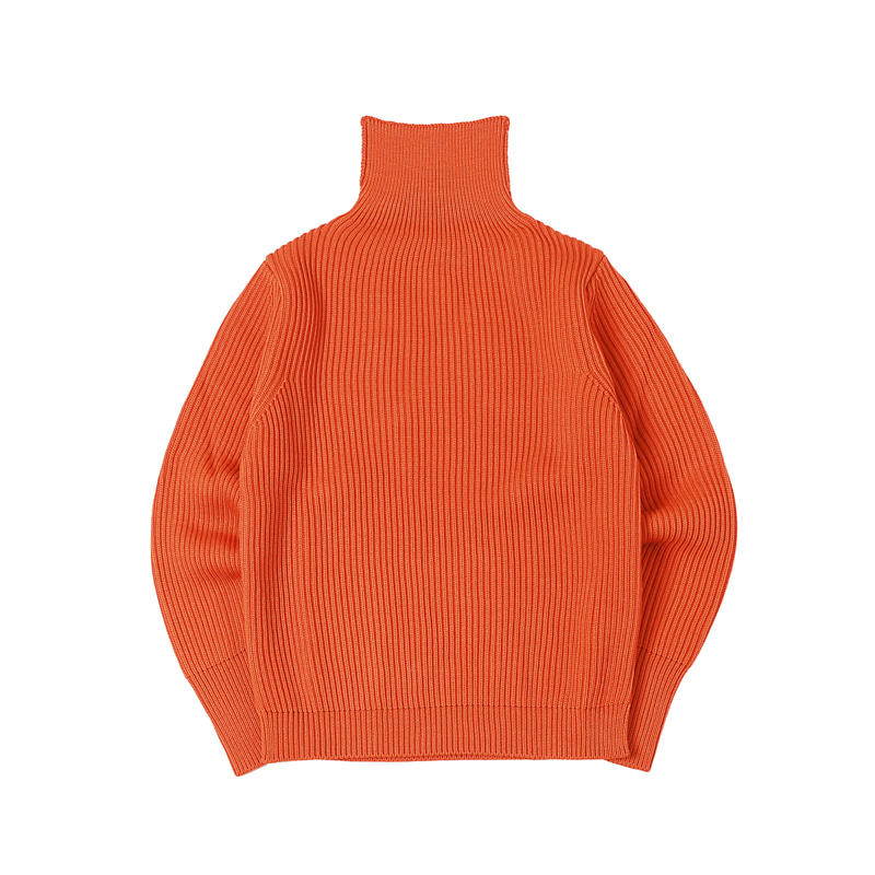 NAVY TURTLENECK - ORANGE
