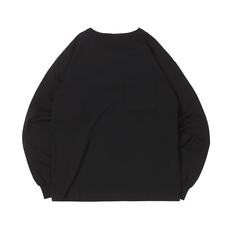 HIGHEST L/S POCKET TEE 19 - BLACK (BH2400)