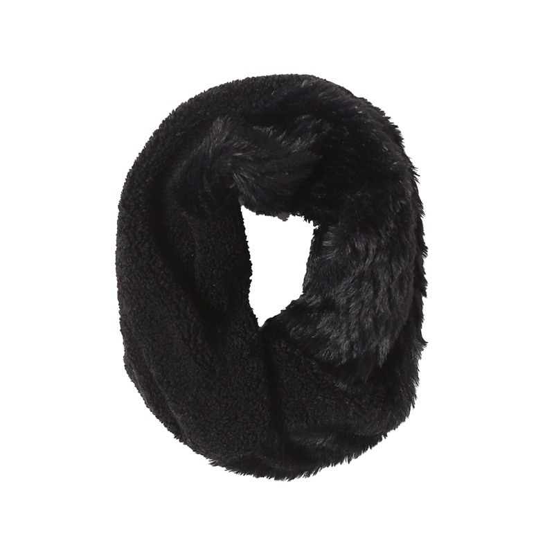 FLEECE STOLE - BLACK