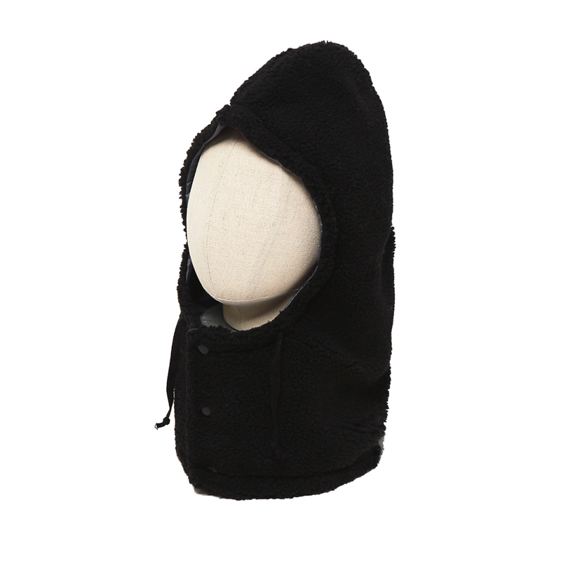 BOA FLEECE HOOD - BLACK GREY
