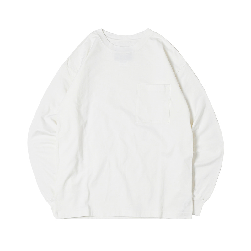 HIGHEST L/S POCKET TEE 19 - WHITE (BH2400)