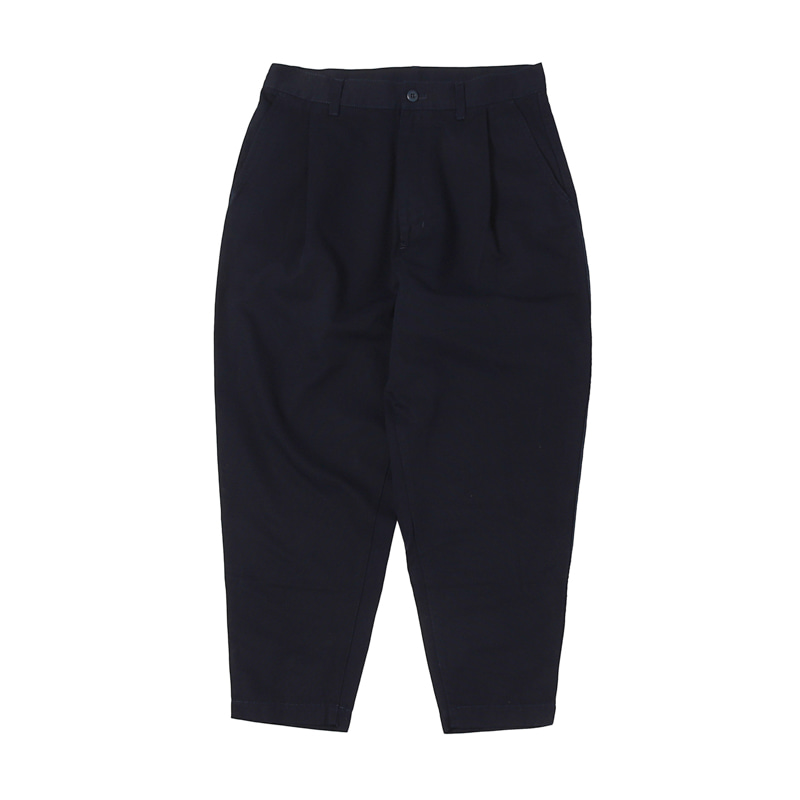 ONE-TUCK TAPERED CHINO PANTS - NAVY (BR-8044)