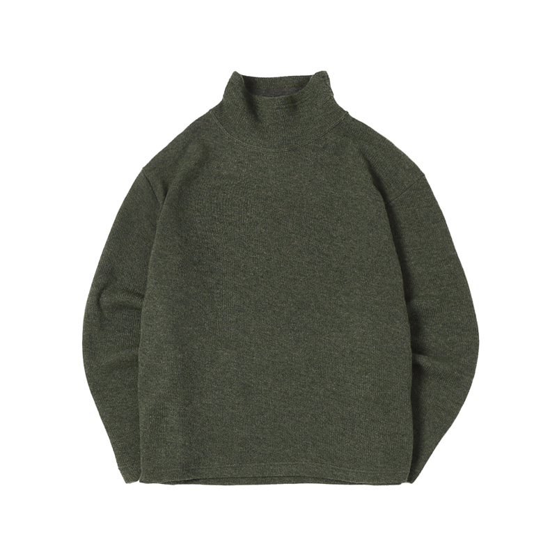TURTLE NECK SWEATER - OLIVE