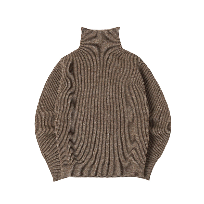 NAVY TURTLENECK - NATURAL TAUPE