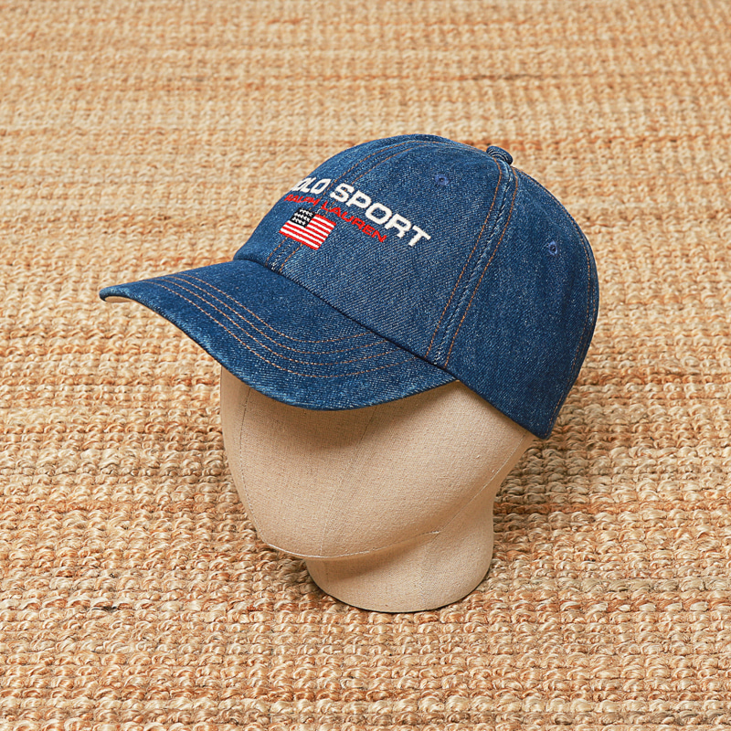 POLO DENIM BALL CAP