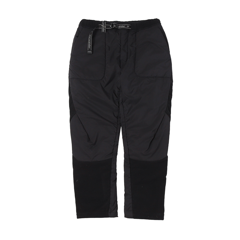 19 TOP FLEECE PANTS - BLACK