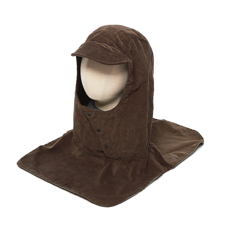 PULLOVER ATTACHED HOOD - BROWN