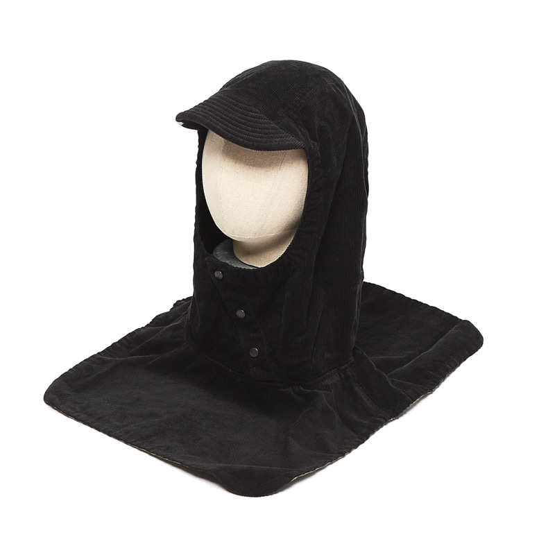 PULLOVER ATTACHED HOOD - BLACK