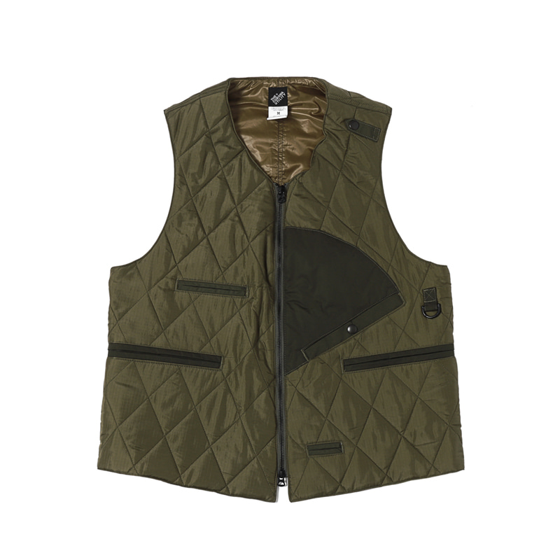 SLEEVELESS FISHING JACKET - OLIVE