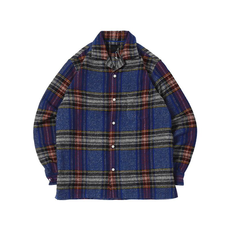 NEP CHECK OPEN SHIRTS - BLUE