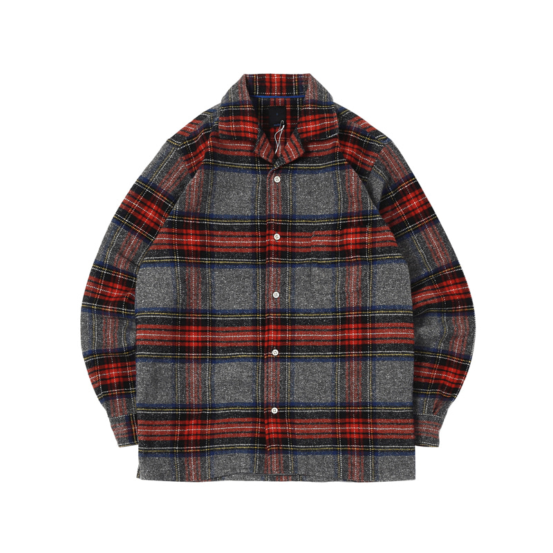 NEP CHECK OPEN SHIRTS - GREY