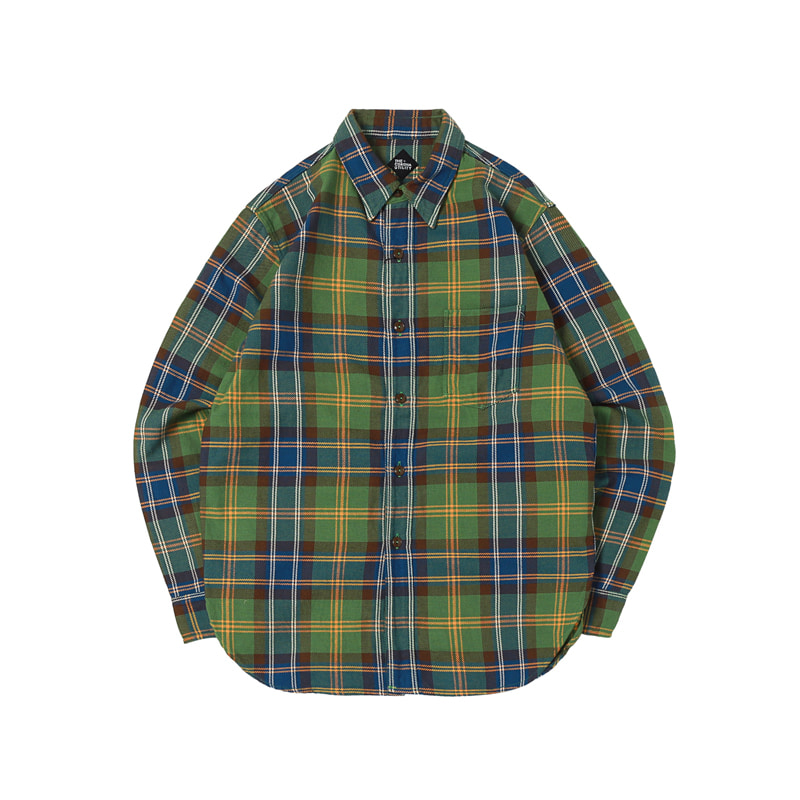 NAVY 2POCKET SHIRT - GREEN