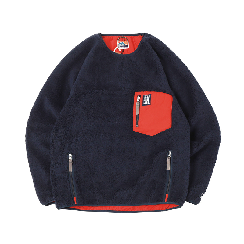 CLASSIC PILE PULLOVER- NAVY