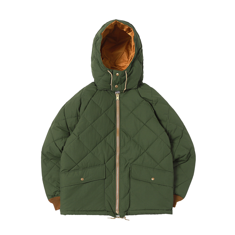 CLASSIC QUILTED DOWN JACKET - OLIVE