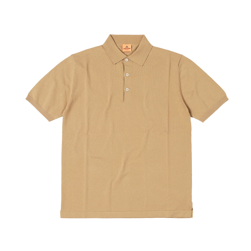 SHORT POLO SHIRT - CAMEL