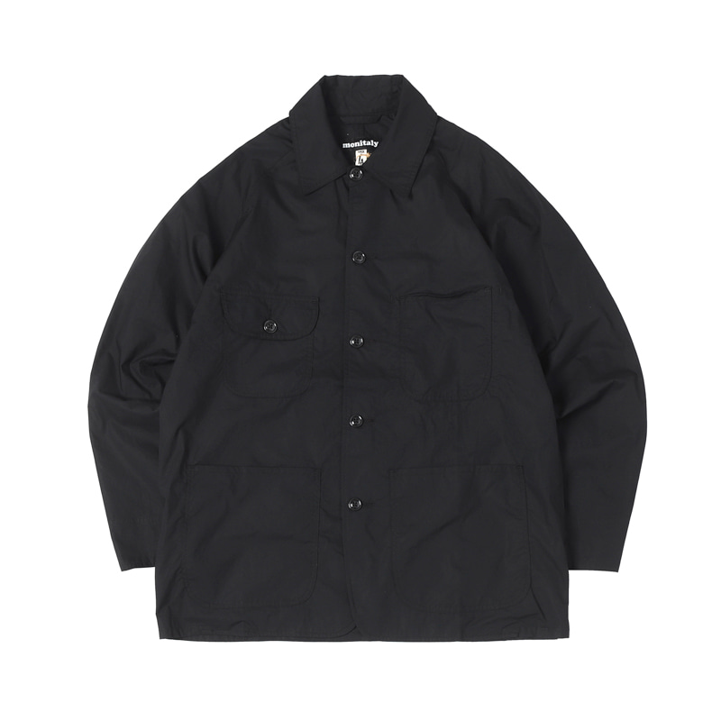 COVERALL - LT POPLIN BLACK