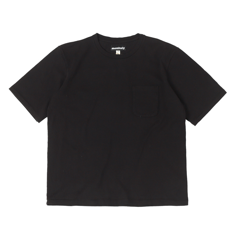 S/S POCKET TEE - BLACK