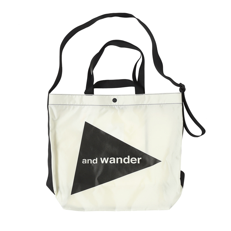 CORDURA BIG LOGO TOTE BAG - WHITE