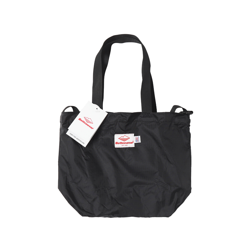 PACKABLE MINI TOTE BAG - BLACK