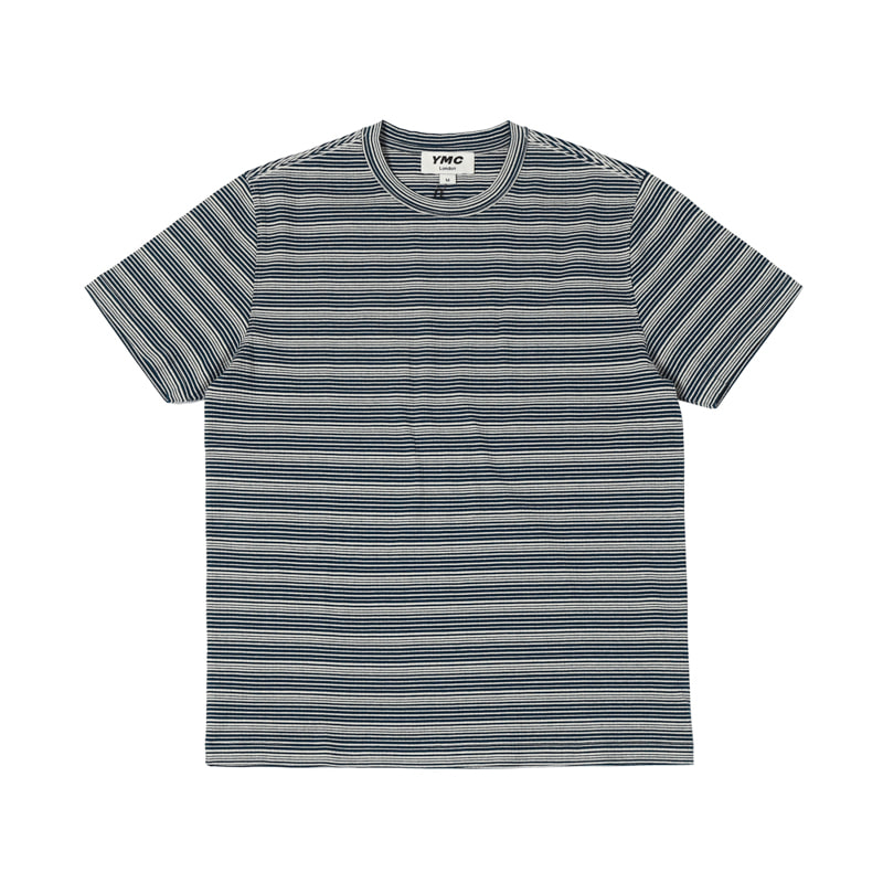 WILD ONES STRIPE TEE - BLUE/ECRU
