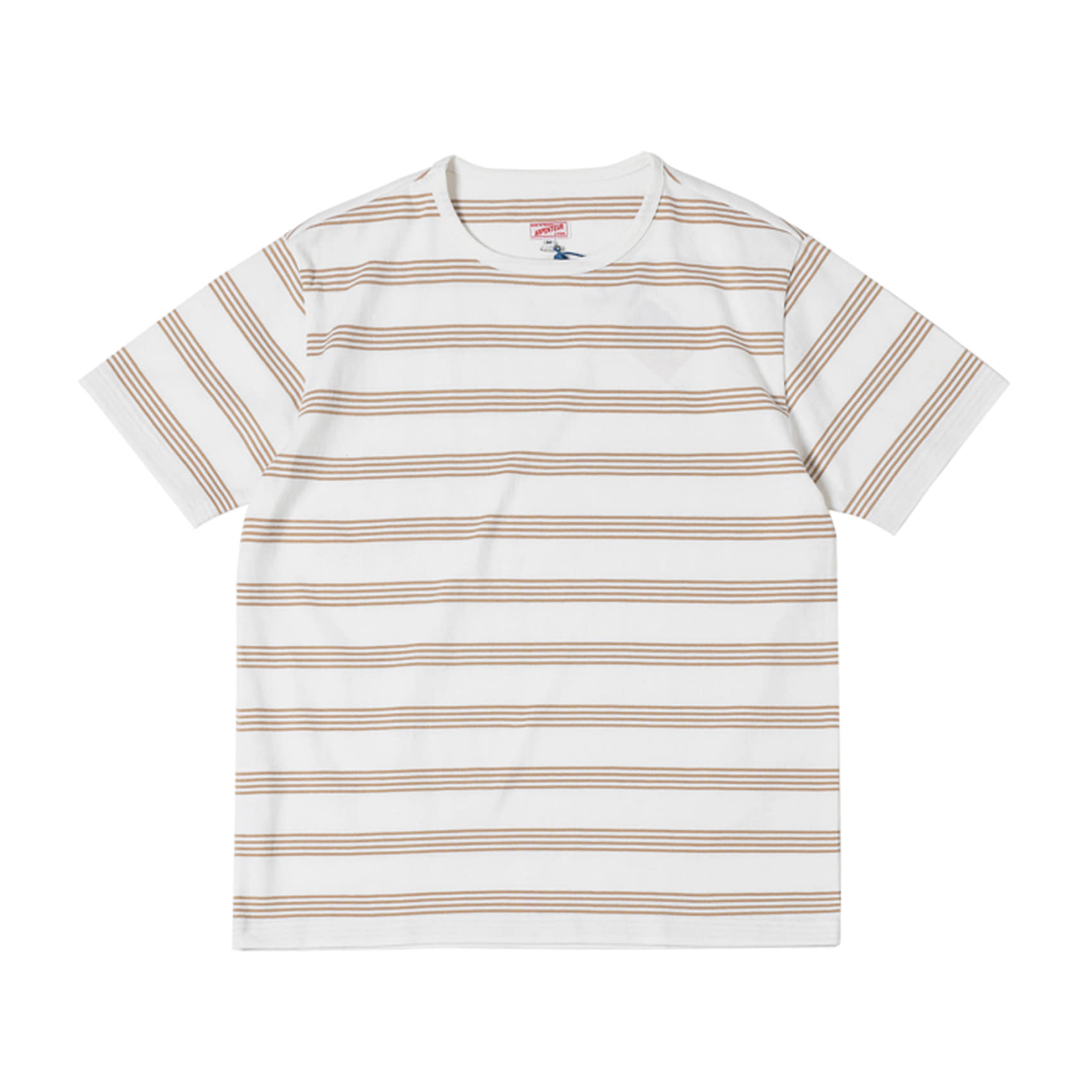 MATCH T-SHIRT - SAND / WHITE