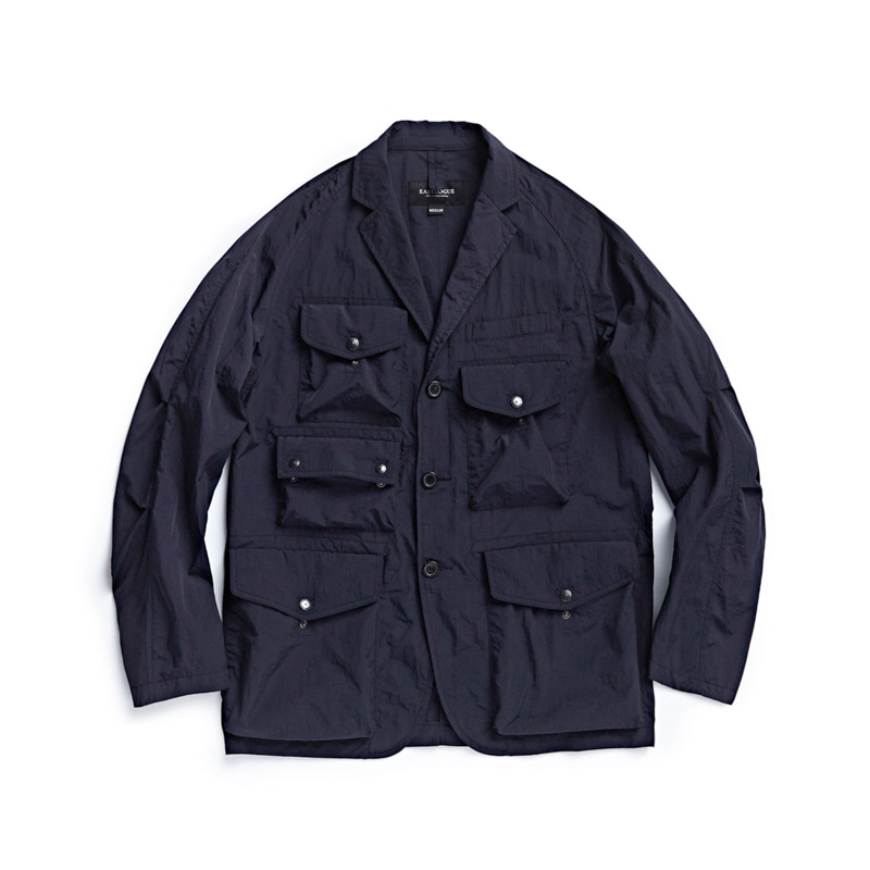 TREKKING JACKET - NAVY NYLON WASHER