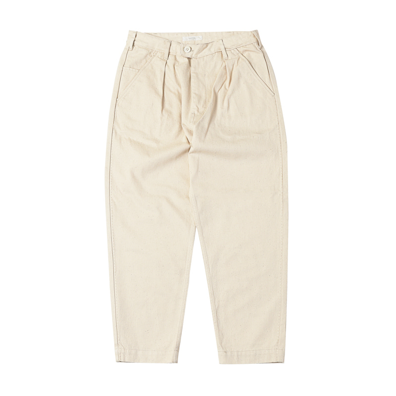 STITCH LOOSE TAPERED TROUSERS - KINARI