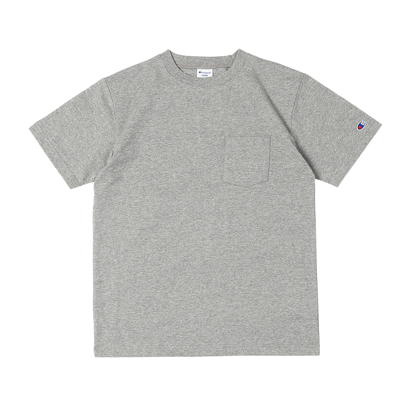 BASIC POCKET SS TEE - GREY