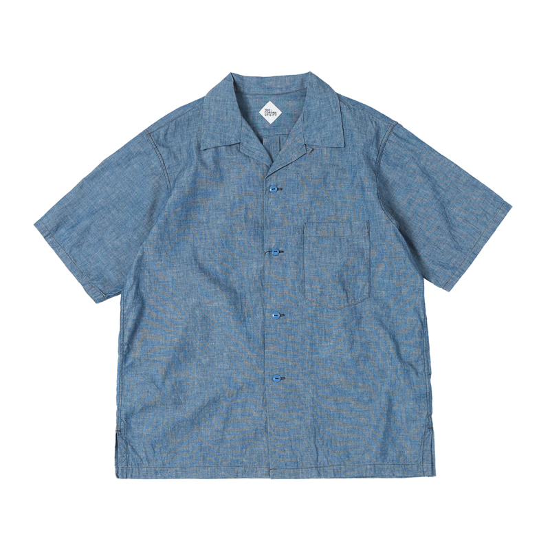FRENCH CAFE SHIRTS - BLUE CHAMBRAY