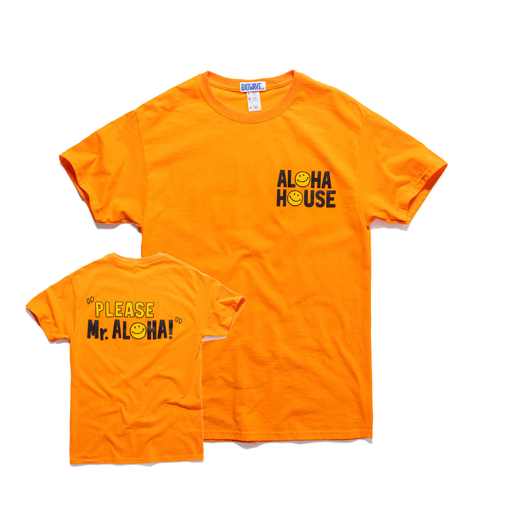 ALOHA HOUSE TEE - POP ORANGE