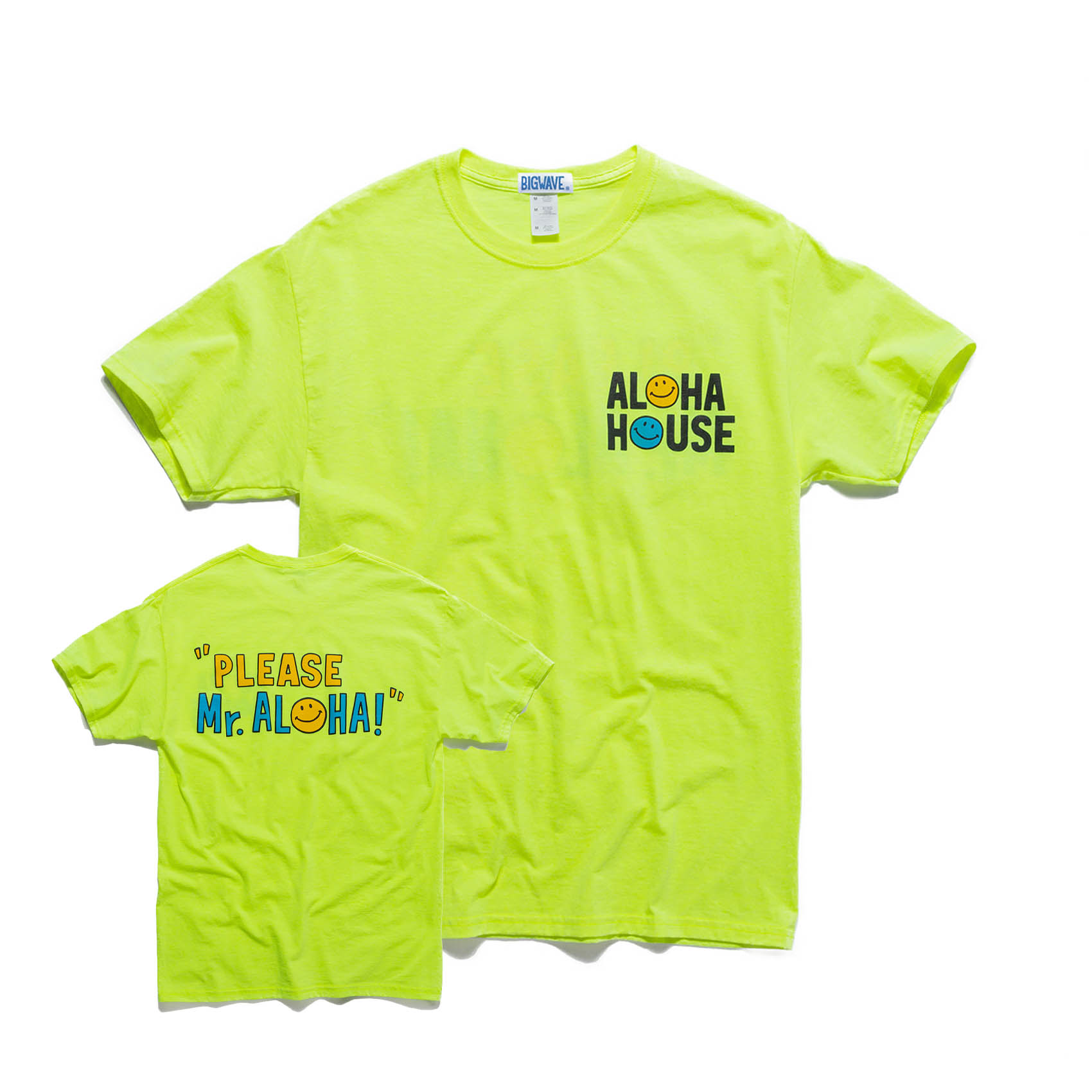 ALOHA HOUSE TEE - POP GREEN
