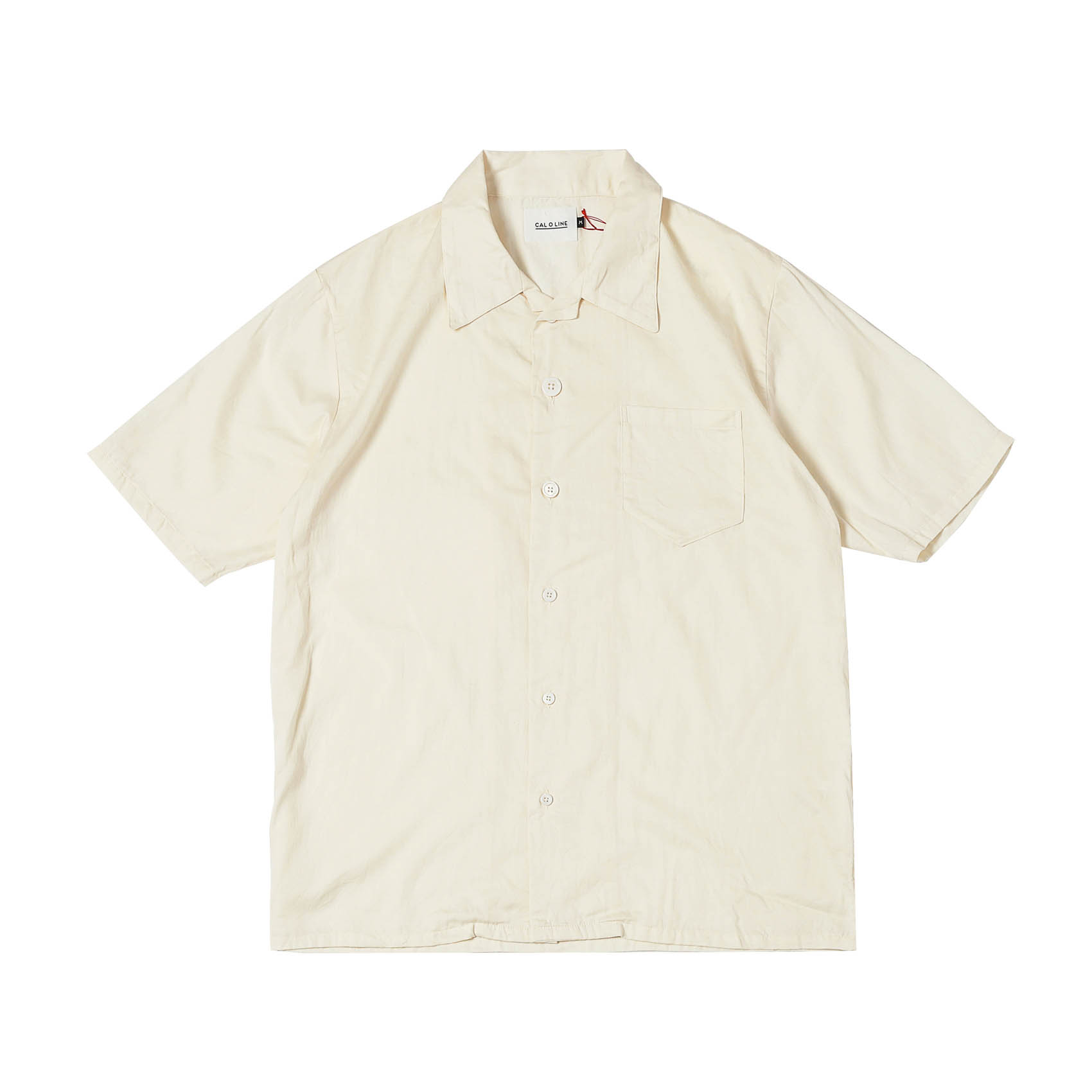 OPEN COLLAR S/S SHIRTS - IVORY