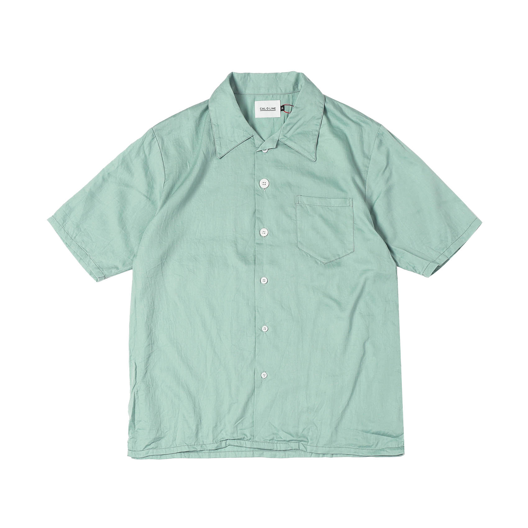 OPEN COLLAR S/S SHIRTS - GREEN