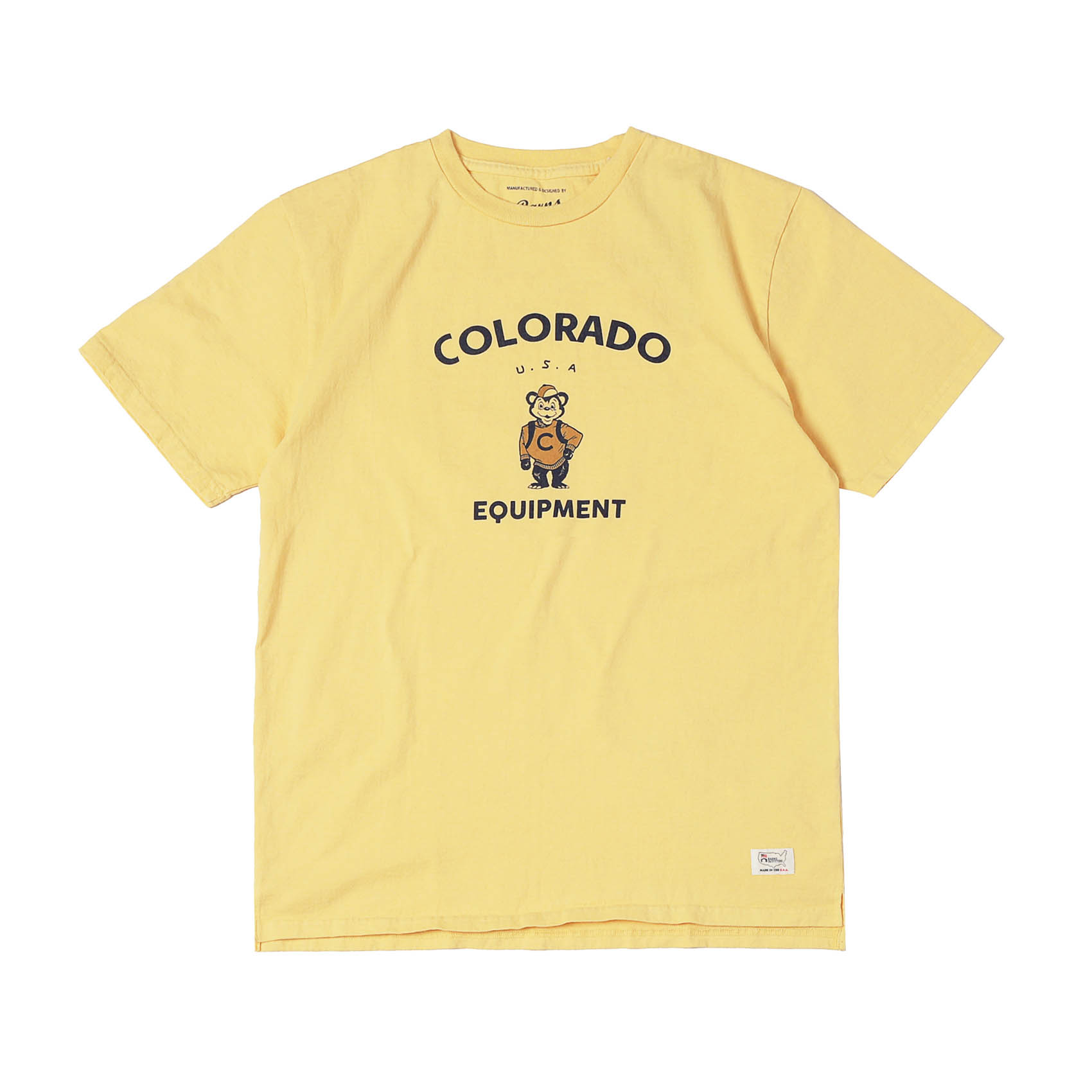 S/S PRINTED TEE - COLORADO YELLOW