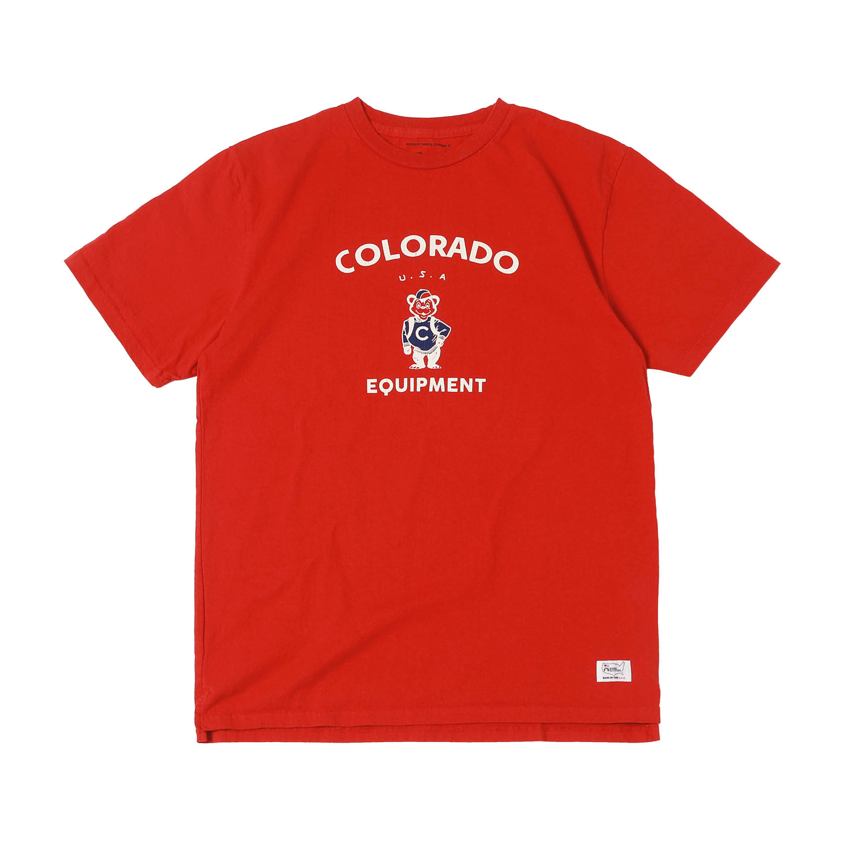 S/S PRINTED TEE - COLORADO RED