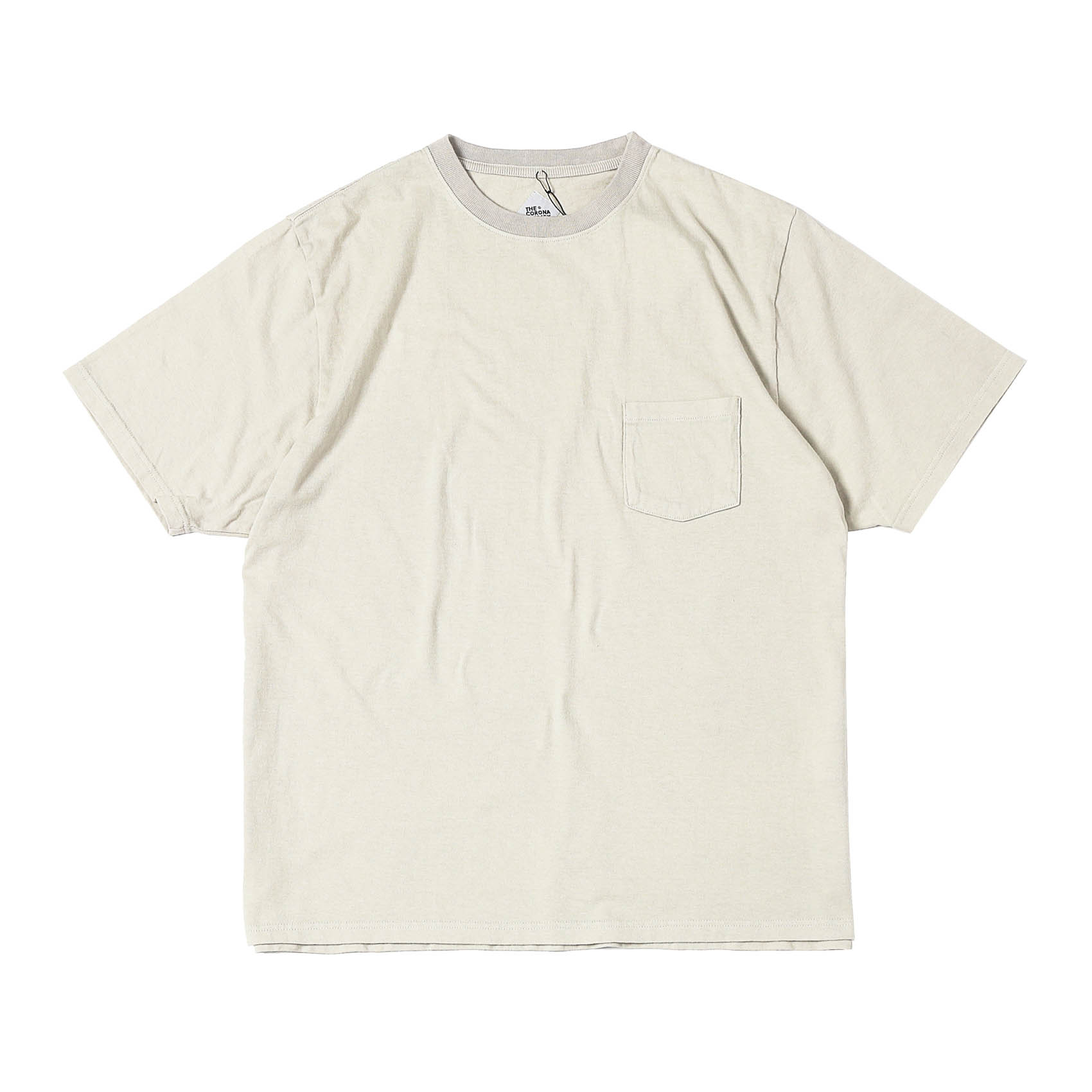 BASIC POCKET TEE - OFF WHITE