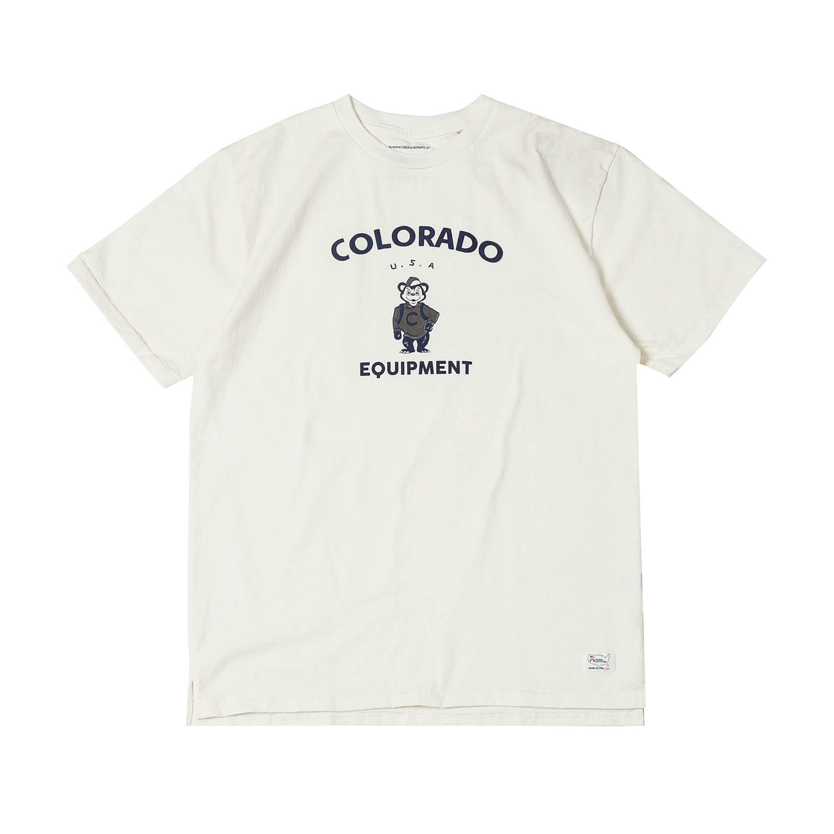 S/S PRINTED TEE - COLORADO WHT