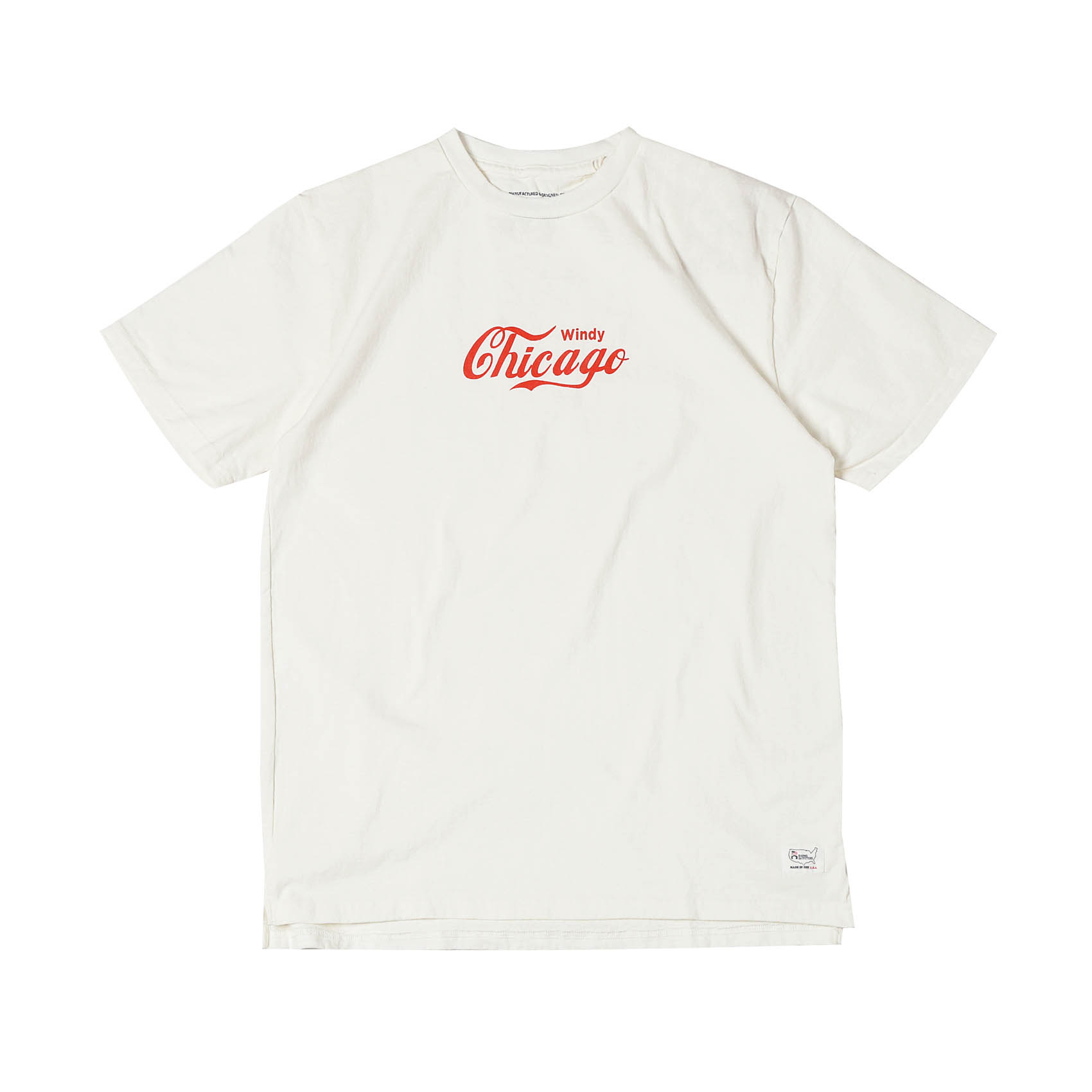 S/S PRINTED TEE - CHICAGO WHT