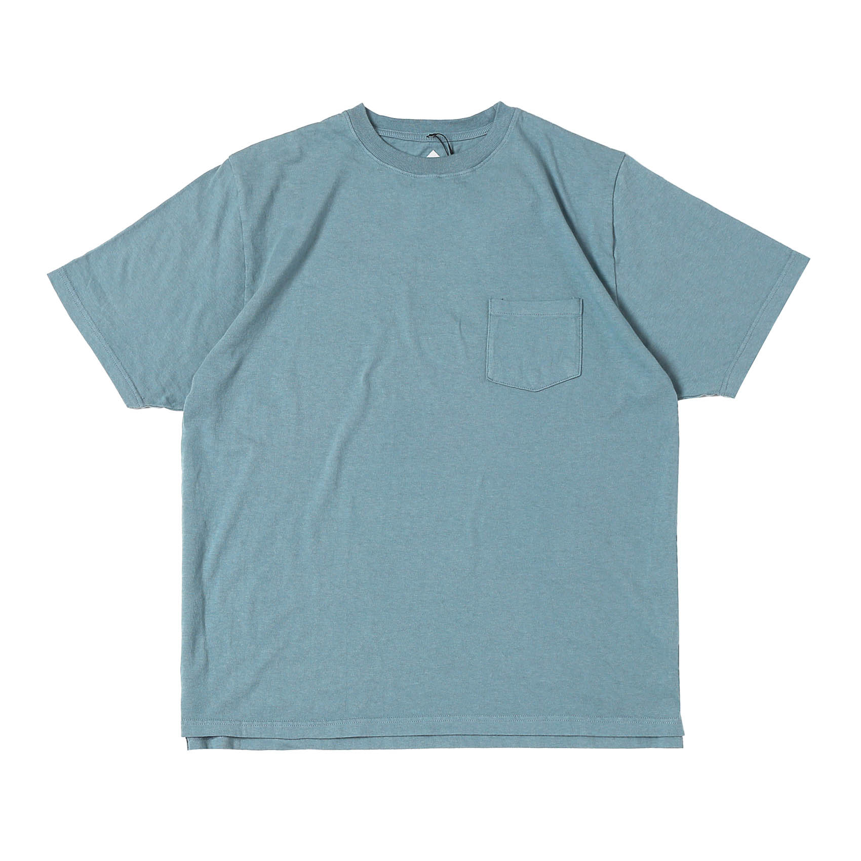 BASIC POCKET TEE - ICE BLUE
