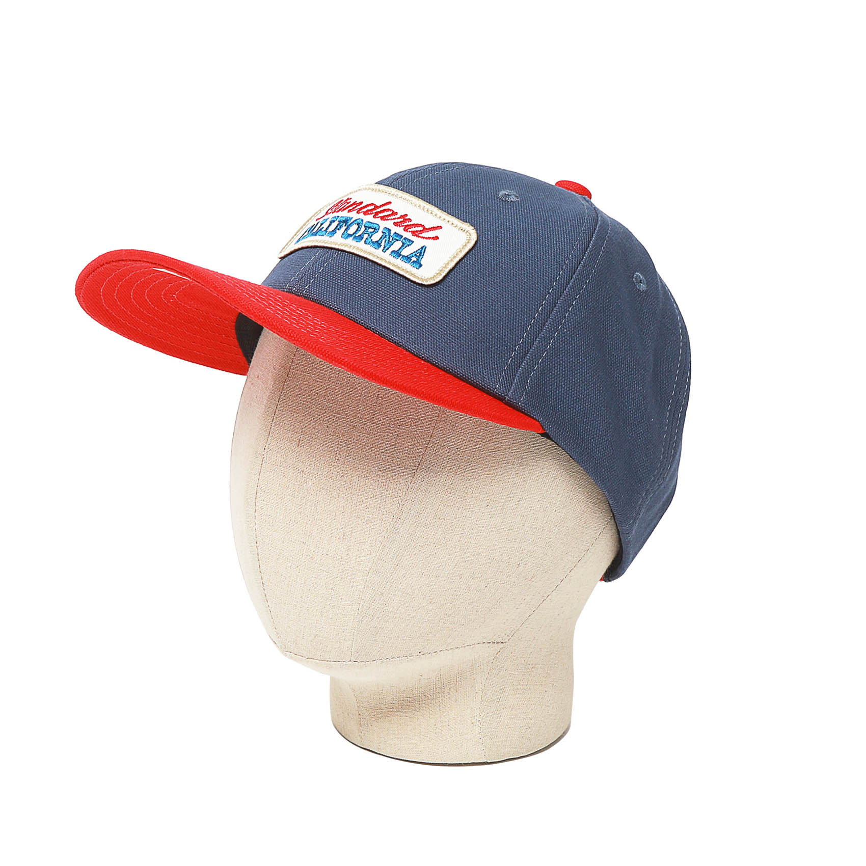 LOGO TWILL CAP - NAVY / RED