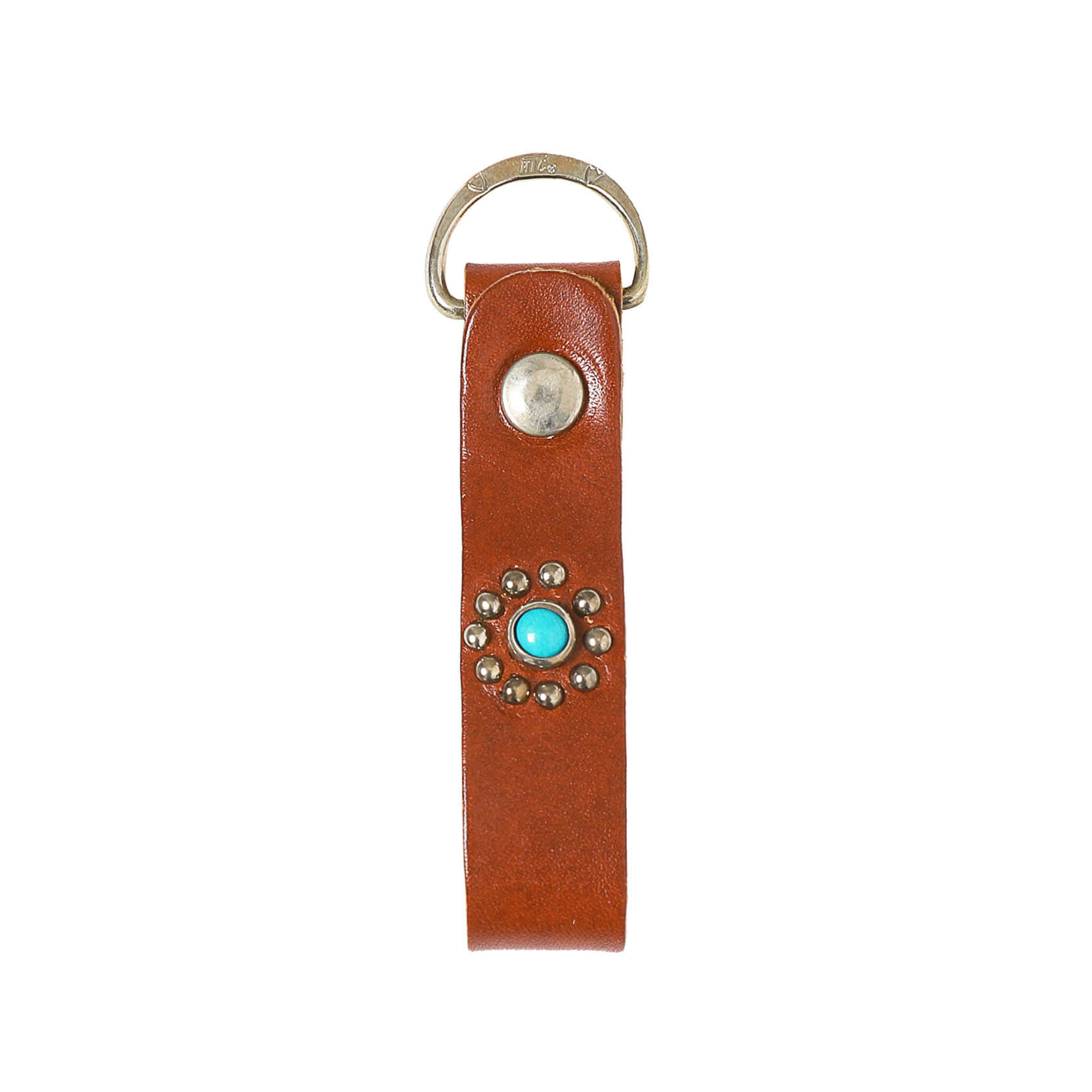 HTC D RING KEY HOLDER - BROWN
