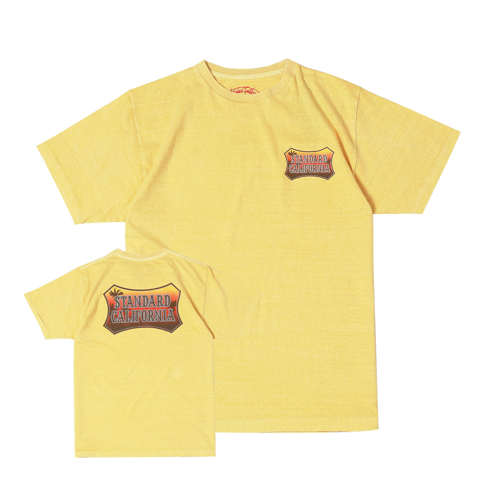 SUNSET SHIELD LOGO TEE - YELLOW