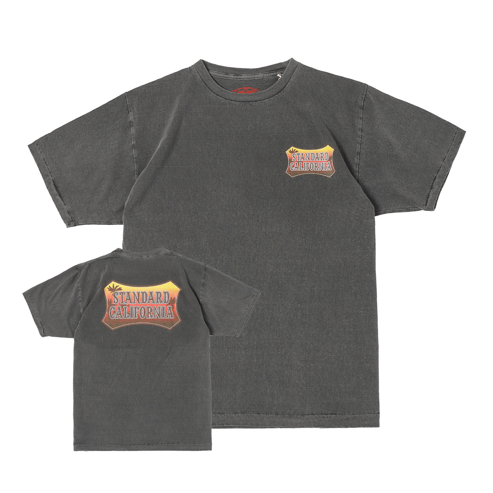 SUNSET SHIELD LOGO TEE - BLACK