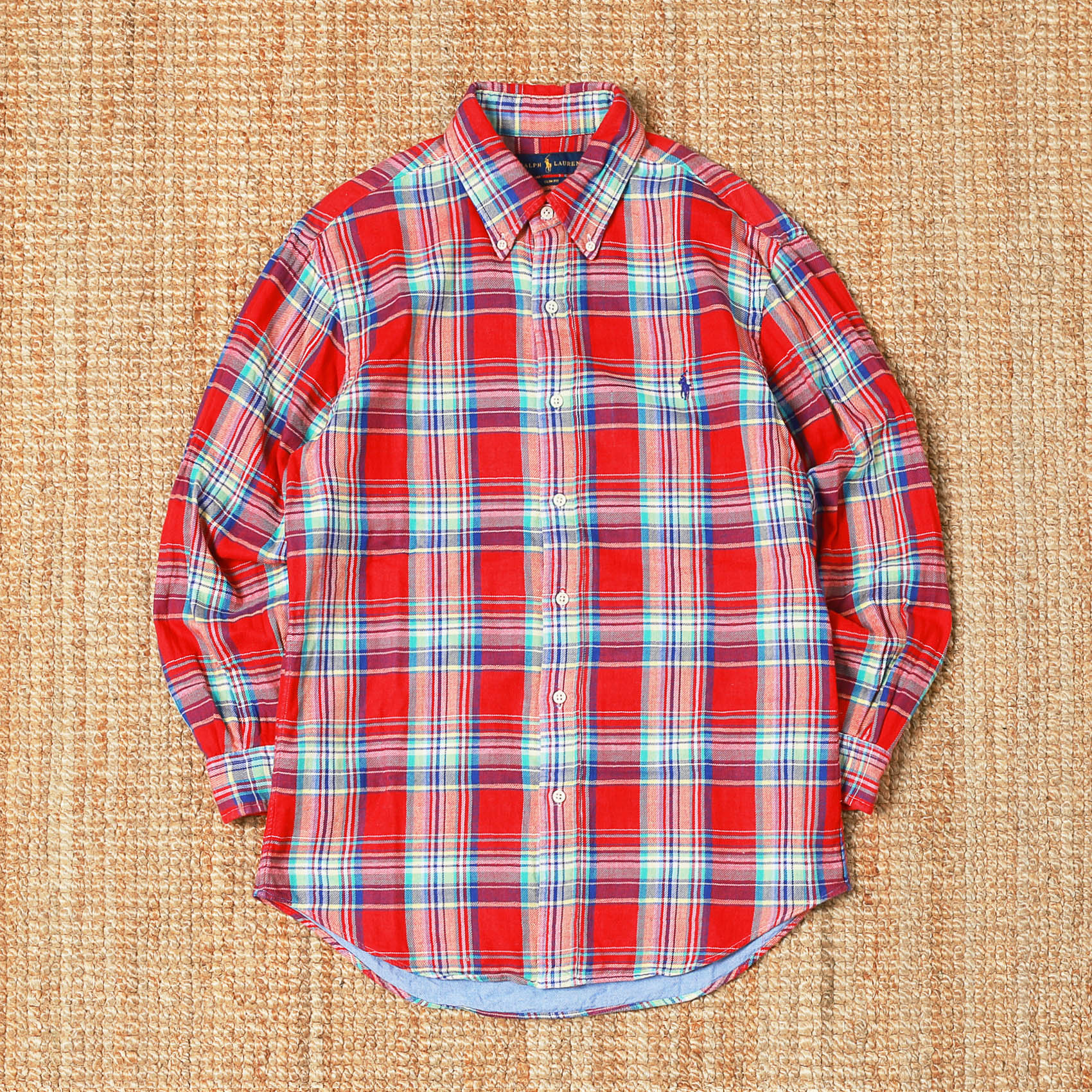 POLO RALPH LAUREN CHECK SHIRTS - RED