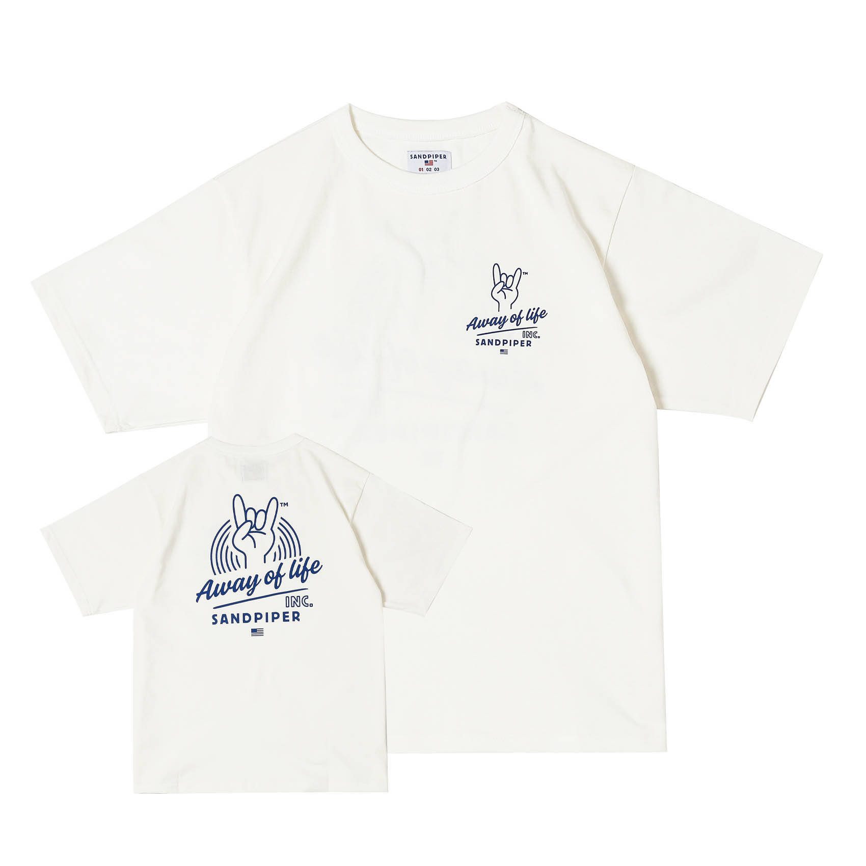 FINGER SIGNATURE TEE - OFF WHITE