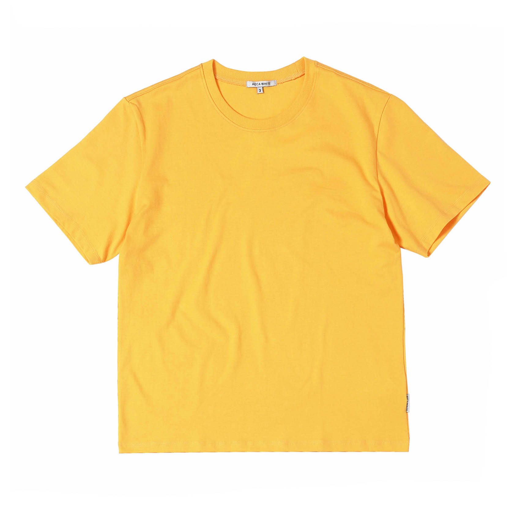 FINEST COTTON HALF SLEEVE TEE - YELLOW
