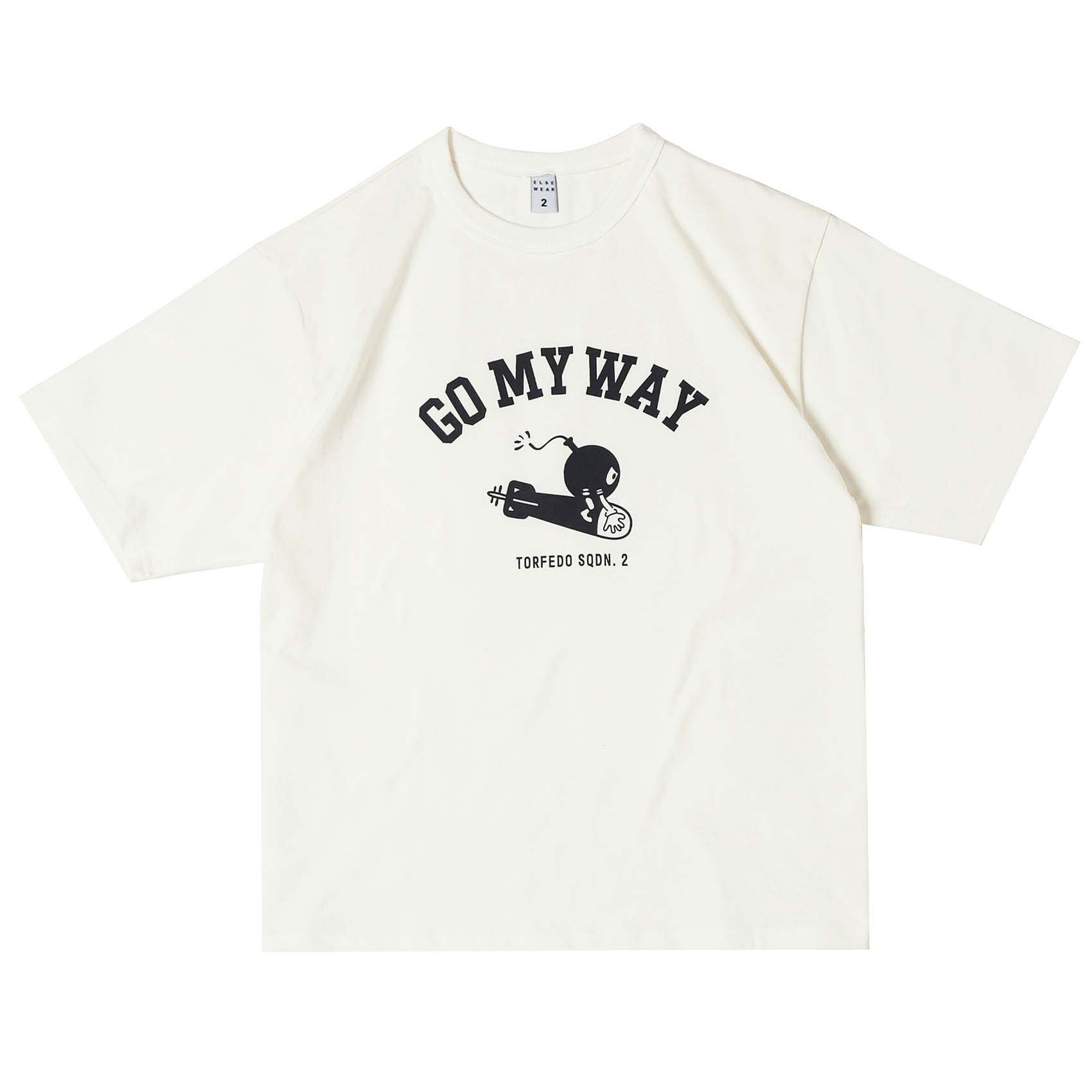 SS PRINTED TEE - GO MY WAY