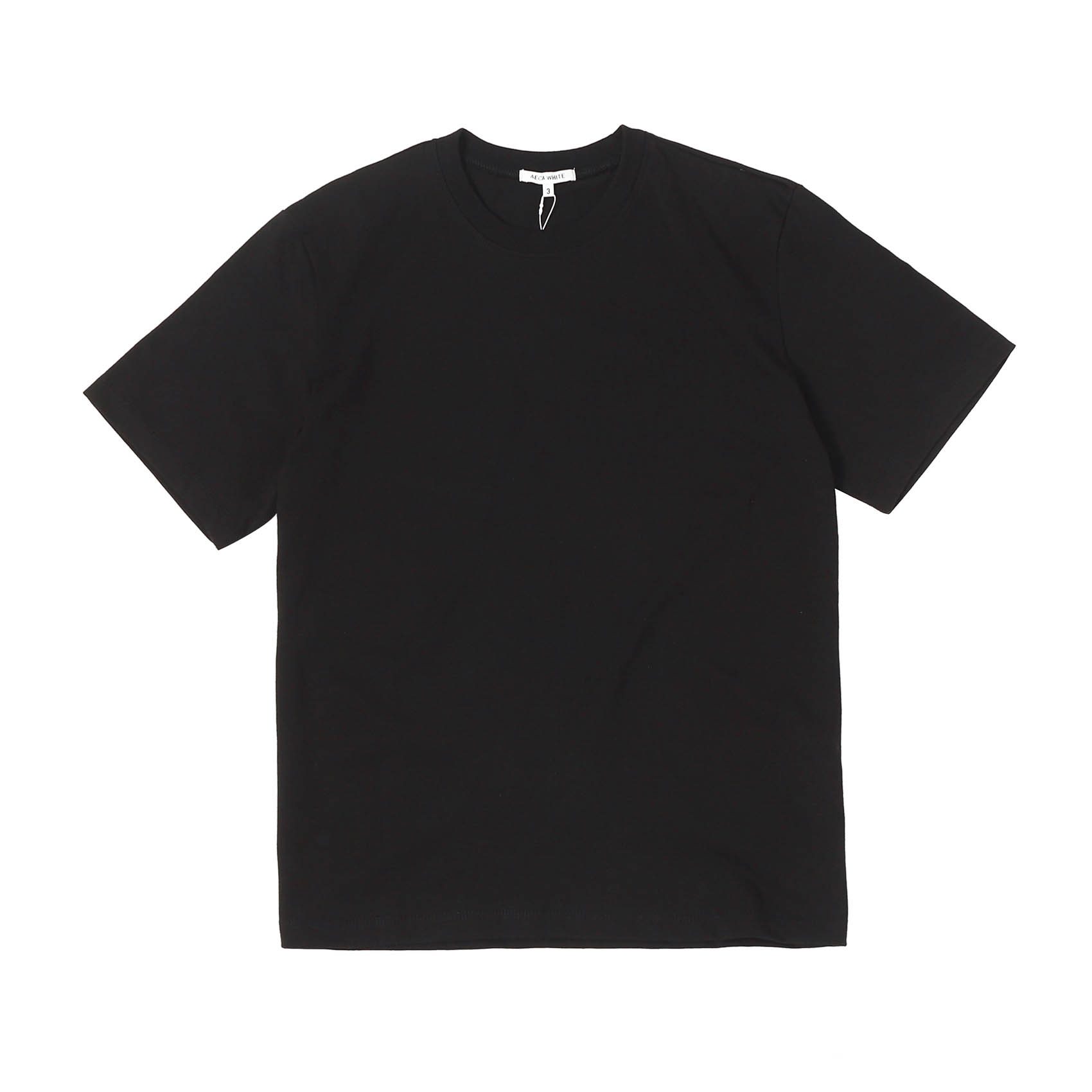 FINEST COTTON HALF SLEEVE TEE - BLACK