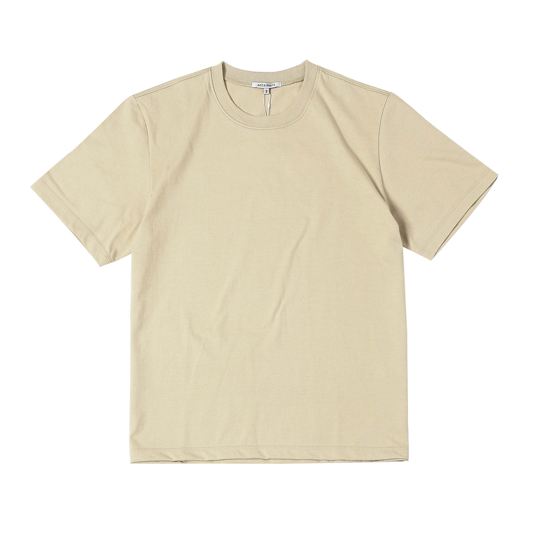 FINEST COTTON HALF SLEEVE TEE - BEIGE