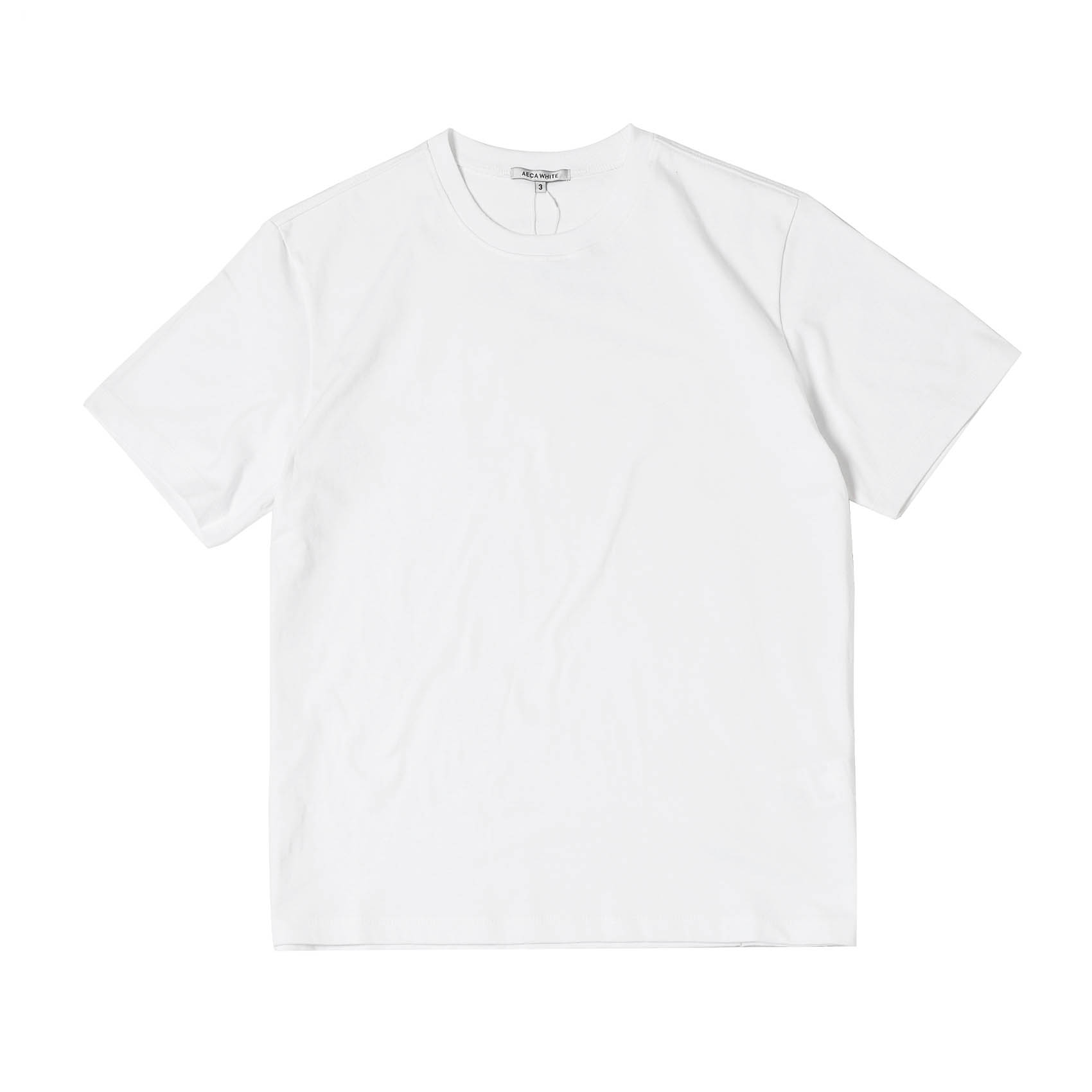 FINEST COTTON HALF SLEEVE TEE - WHITE